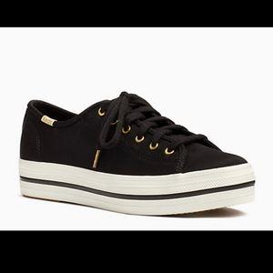 Keds x Kate Spade black sneakers